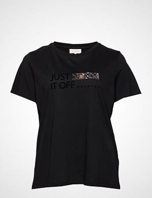 Only Carmakoma T-skjorte, Carsnake It Ss Tee T-shirts & Tops Short-sleeved Svart ONLY CARMAKOMA