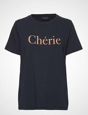 FREE/QUENT T-skjorte, Bita-Tee T-shirts & Tops Short-sleeved Blå FREE/QUENT