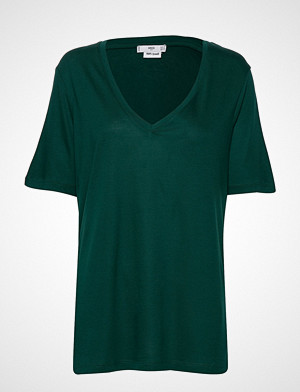 Mango T-skjorte, Basic T-Shirt T-shirts & Tops Short-sleeved Grønn MANGO