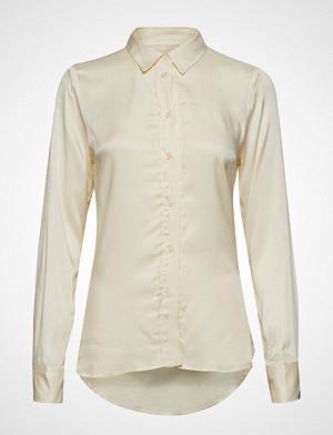 Soaked in Luxury skjorte, Sl Jeanette Shirt Ls Langermet Skjorte Creme SOAKED IN LUXURY