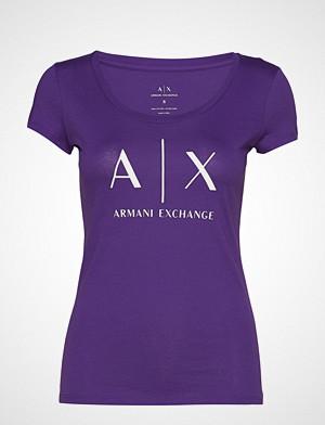Armani Exchange T-skjorte, Ax Woman T-Shirt T-shirts & Tops Short-sleeved Lilla ARMANI EXCHANGE