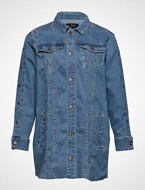 Zizzi skjorte, Joda, Ls, Jacket Langermet Skjorte Blå ZIZZI