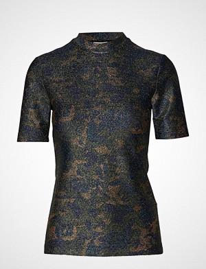 Ganni T-skjorte, Lurex Jersey T-Shirt T-shirts & Tops Short-sleeved Blå GANNI