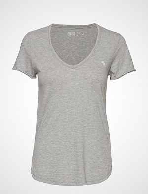Abercrombie & Fitch T-skjorte, Icon Tee T-shirts & Tops Short-sleeved Grå ABERCROMBIE & FITCH
