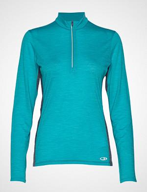 Icebreaker T-skjorte, Wmns Amplify Ls Half Zip T-shirts & Tops Long-sleeved Blå ICEBREAKER