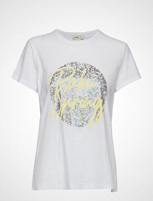 Levete Room T-skjorte, Lr-Alvina T-shirts & Tops Short-sleeved Hvit LEVETE ROOM