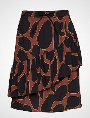 Coster Copenhagen skjørt, Skirt In Lava Print W. Tie Band At Kort Skjørt Brun COSTER COPENHAGEN