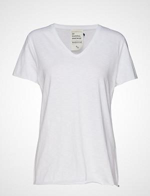 Denim Hunter T-skjorte, 08 The Vtee Slub Yarn Jersey T-shirts & Tops Short-sleeved Hvit Denim Hunter