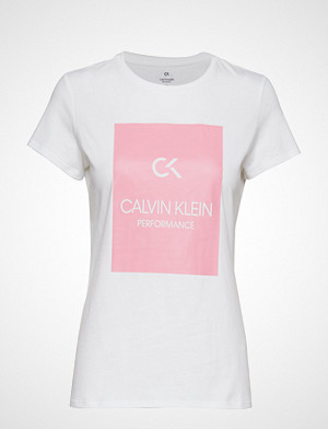 Calvin Klein Performance T-skjorte, Short Sleeve Tee, 00 T-shirts & Tops Short-sleeved Hvit CALVIN KLEIN PERFORMANCE