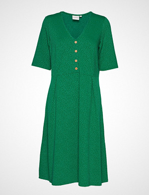Junarose kjole, Jrsane 2/4 Sleeve Below Swing Dress - S Knelang Kjole Grønn JUNAROSE