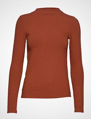 Mango T-skjorte, Ribbed T-Shirt T-shirts & Tops Long-sleeved Rød Mango