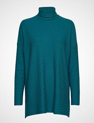 Nanso genser, Ladies Tunic, Rib Høyhalset Pologenser Blå Nanso