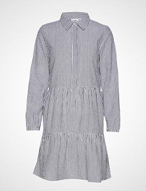 T6551, Striped Lace Dress Knelang Kjole Grønn SAINT TROPEZ