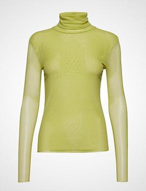 Soaked in Luxury genser, Sl Corn T-Shirt Ls Høyhalset Pologenser Gul SOAKED IN LUXURY