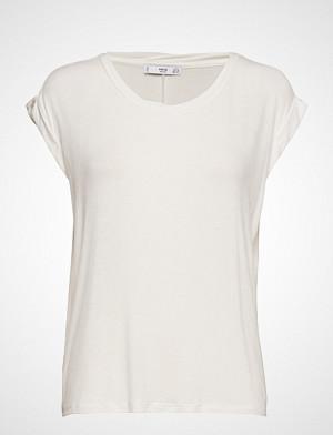 Mango T-skjorte, Rolled-Up Sleeves T-Shirt T-shirts & Tops Short-sleeved Hvit MANGO