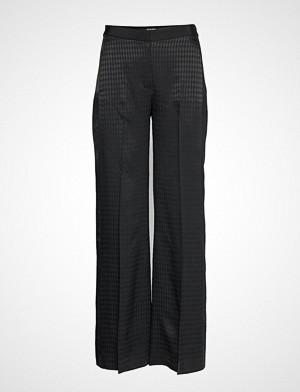 Karl Lagerfeld bukse, Pants W/ Karl Head Jacquard Vide Bukser Svart KARL LAGERFELD