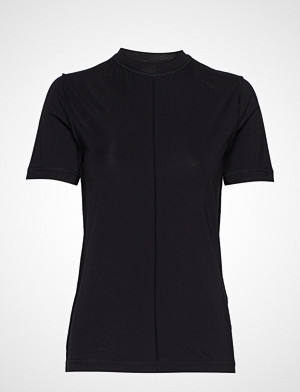 Ganni T-skjorte, Light Stretch Jersey T-shirts & Tops Short-sleeved Svart GANNI