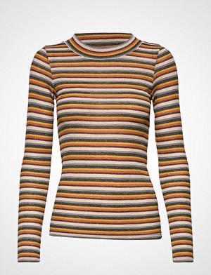 Ichi T-skjorte, Ihverona Ls2 T-shirts & Tops Long-sleeved Gul ICHI
