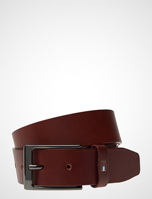 Tommy Hilfiger Layton Leather Belt Accessories Belts Classic Belts Brun Tommy Hilfiger