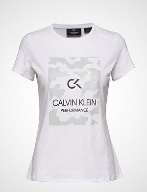 Calvin Klein Performance T-skjorte, Billboard Short Slee T-shirts & Tops Short-sleeved Hvit CALVIN KLEIN PERFORMANCE
