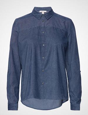 Esprit Casual skjorte, Blouses Woven Langermet Skjorte Blå ESPRIT CASUAL