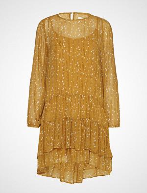 Lollys Laundry kjole, Piper Dress Knelang Kjole Gul LOLLYS LAUNDRY