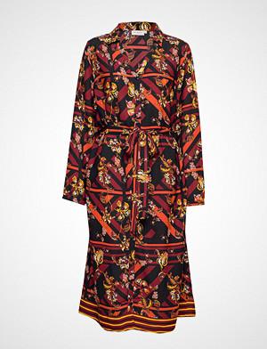 Only Carmakoma kjole, Carcelly Ls Blk Dress Knelang Kjole Multi/mønstret ONLY CARMAKOMA