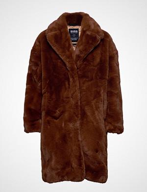 Svea Jackie Coat Outerwear Faux Fur Brun Svea
