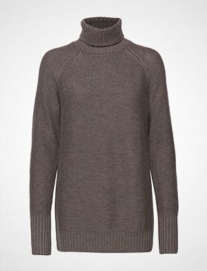Icebreaker genser, Wmns Waypoint Roll Neck Sweater Høyhalset Pologenser Grå Icebreaker