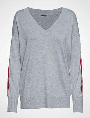 GUESS Jeans genser, Ls Vn Julie Sweater Strikket Genser Grå GUESS JEANS