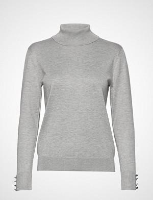 Brandtex genser, Pullover-Knit Light Høyhalset Pologenser Grå BRANDTEX