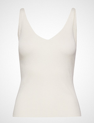 Mango singlet, Ribbed Top T-shirts & Tops Sleeveless Creme MANGO