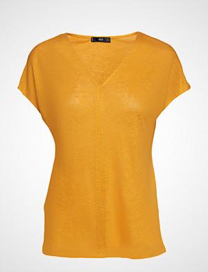 Mango T-skjorte, Linen T-Shirt T-shirts & Tops Short-sleeved Gul MANGO