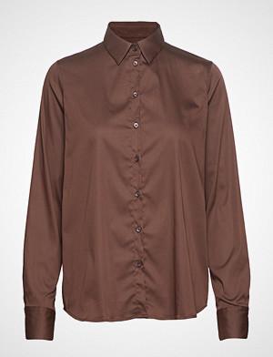 Mos Mosh skjorte, Martina Shirt Langermet Skjorte Brun MOS MOSH
