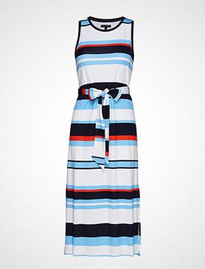 Banana Republic kjole, Sl Stripe Tie Waist Column Dress Knelang Kjole Multi/mønstret Banana Republic