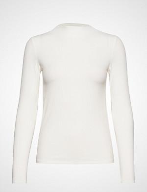 Mango T-skjorte, Ribbed T-Shirt T-shirts & Tops Long-sleeved Hvit Mango