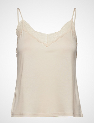 Mango singlet, Lace Top T-shirts & Tops Sleeveless Creme MANGO