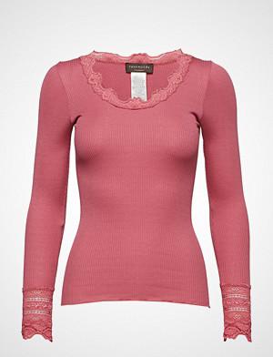 Rosemunde T-skjorte, Silk T-Shirt Regular Ls W/Wide Lace T-shirts & Tops Long-sleeved Rosa ROSEMUNDE