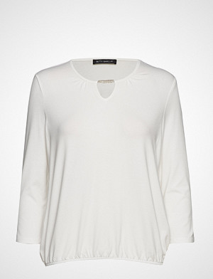 Betty Barclay T-skjorte, Shirt Short 3/4 Sleeve T-shirts & Tops Long-sleeved Hvit BETTY BARCLAY