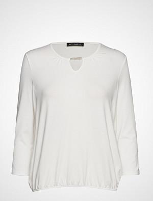 Betty Barclay T-skjorte, Shirt Short 3/4 Sleeve T-shirts & Tops Long-sleeved Hvit Betty Barclay