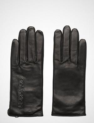 Calvin Klein hansker, Deboss Logo Leather, Hansker Svart Calvin Klein