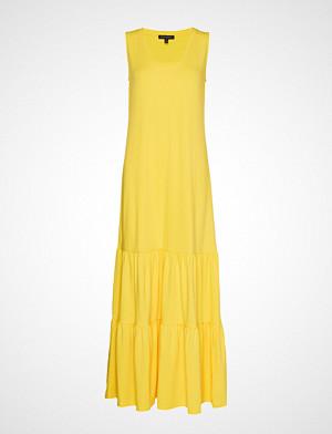 Banana Republic kjole, Sl Knit Tiered Maxi Maxikjole Festkjole Gul Banana Republic