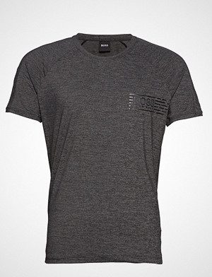 BOSS Business Wear T-skjorte, T-Shirt Rn Athletic T-shirts Short-sleeved Grå BOSS BUSINESS WEAR