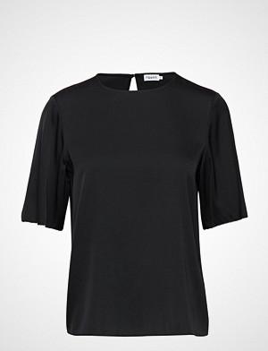 Filippa K T-skjorte, Silk Tee T-shirts & Tops Short-sleeved Svart FILIPPA K
