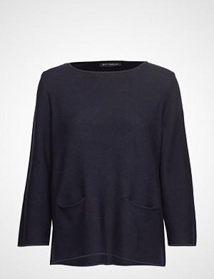 Betty Barclay genser, Knitted Pullover Short 3/4 Sle Strikket Genser Blå Betty Barclay