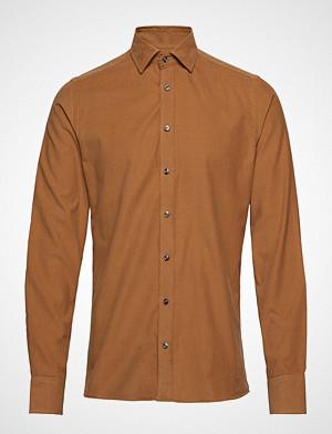 Sand skjorte, Soft Mini Cord - Iver Soft Skjorte Business Brun SAND