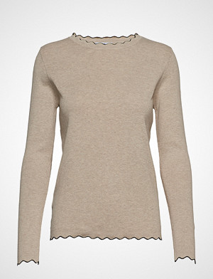 Mango genser, Scalloped Details Sweater Strikket Genser Beige Mango