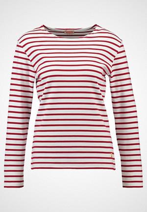 Armor-Lux T-skjorte, MARINIERE HERITAGE Topper langermet blanc/braise
