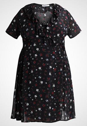 Glamorous Curve kjole, BELL SLEEVE WRAP DRESS Sommerkjole black