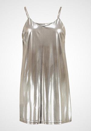 Glamorous Curve kjole, TANKTOP METALLIC DRESS Sommerkjole light gold metalic